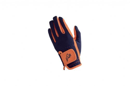 Hy5 Children's Everyday Two Tone Riding Gloves in Navy/Orange